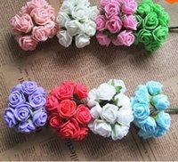 Wholesale 2015 Hot sale PE Artificial foam flowers ornament rose flower Wedding Home decoration flower
