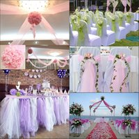 Wholesale 2015 Organza Chairs Table Covers Wedding Decorations Supplies cm Width Pink Purple Red DIY Party Sashes Fabrics MIC m
