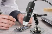 6pcs / lot 50-500X 2MP USB 8 LEDs Electrónica Digital Microscopio Inspección cámara lupa con soporte de metal EGS_146