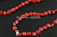 bamboo coral necklace - silver lobster clasp red sea bamboo coral freeform small nugget beads inches long Necklace Fashion woman jewelry