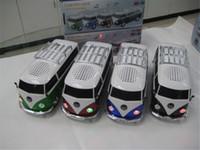 al por mayor juguetes del coche de la tarjeta-WS-266 Mini Soporte de altavoz estéreo TF tarjeta Reproductor portátil USB MP3 juguete autobús Con batería externa Subwoofer altavoz del coche