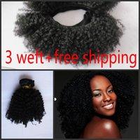 Cheap Malaysian virgin hair afro kinky curly weft no shedding no tangle natural black 1b no dye free shipping
