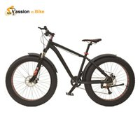 alloy mudguards - passion ebike Speed Snow Bicicleta Mountain Bike for Suspension Fork with wings fenders mudguard only pieces