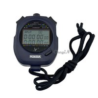 Wholesale Sports Stopwatch Professional Handheld Digital LCD Sports Stopwatch Professional Chronograph Counter Timer with Strap MB013B H30