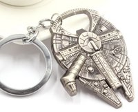 metal bottle opener - 2016 Star Wars keychains Millennium Falcon Metal Alloy Bottle Opener movie keyring jewelry gift