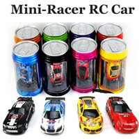 Wholesale 1 Mini Racer Remote Control Car Coke Can Mini Speed RC Radio Remote Control Micro Racing Car Toy gift Radio Control Car