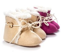 baby boots free shipping - DHL free ship Super Warm Winter Baby Ankle Snow Boots First Walker Shoes cashmere fur Shoes Infant Shoes Baby Footwear softly nonslip shoes