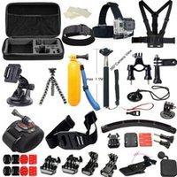 action cases - GoPro Accessories Set Selfie Monopod With GoPro Case Bag Xiaomi Yi Go Pro Action Camera Sj4000 Sj5000 Sj6000 Sj7000