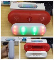 Wholesale 2015 Mini Wireless speaker pill pulse LED Light speaker stereo pill speaker with protable handle support TF card U disk