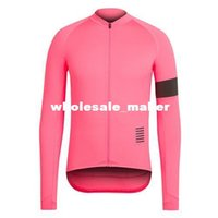 Wholesale Long Sleeve Cycling Jerseys Pink Durable Perspiration Breathable Cycling Clothing Men women Cycling Jerseys