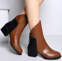 Wholesale 2014 NEW high quality Women Boots Fashion brand Boots Autumn and winter women shoes Genuine leather keep warm High heel boots NXZ71