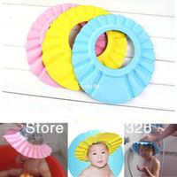 Wholesale Lovely Soft Child Kid Shampoo bathroom Bath Cap Baby Wash Hair Shield Hat Shower cap