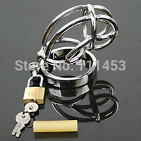 male chastity belt - Metal Male Chastity Device Cock Cage Chasity Ring For Man Chastity Belt