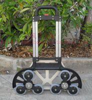 Wholesale Aluminum alloy climb stair shopping cart lage cart trolley car trailer load king feet