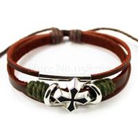 achat en gros de à tisser des bracelets unisexe-FG1509 SSHINE Charm Bracelets Joaillerie en cuir unisexe Bracelet Bracelets Bangles Cuff Bracelets bandes Braclet Loom