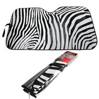 Wholesale Auto Car Van Windshield Front Window Visor Sun Shade Sunshade Zebra Print Stripe order lt no track