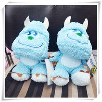 Wholesale Monsters Inc Sulley Plush quot cm quot cm Doll Sky Blue Size Sold by piece Xmas Gift Stuffed Toy EMS