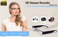 Wholesale V13 SPY p Full HD Digital Video recorder Glasses Hidden Camera Eyewear DVR Camcorder hot Eyeglass