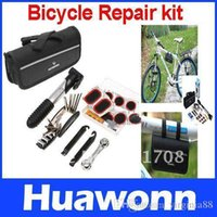 Wholesale Bike Bicycle Tyre Repair Multifunctional Tool Set Kit mini portable Pump