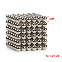 magnetic balls - 216PCS mm Neocube Buckyballs Magnetic Balls Beads Sphere neo Cube Puzzle neocube Balls Magic Magnetic balls Without metal box