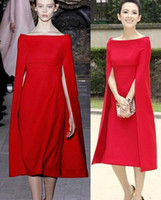 beautiful knitting - New Fashion Women Beautiful Red Celebrity Dresses Formal Poncho Style Luxury Dresses Thick Cotton Simple prom Party Dress Evening Dresses