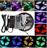 Wholesale 5M Bright Ultra White SMD Warm white cool white blue red green Waterproof Flexible LED Strip Light with connector