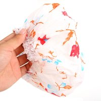 Wholesale 10 Women Lady Waterproof Elastic Plastic Shower Bathing Bouffant Salon Hair Cap Hat ZH059 order lt no tracking