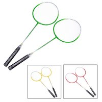 Wholesale 2Pcs Durable Titanium Alloy Badminton Racket with Carry Bag Sport Equipment Lightweight Training Badminton Racquet