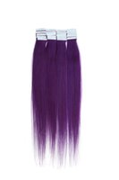 Wholesale 40pcs quot Purple g Straight Human Hair Tape Hair Remy Human Hair Reuse Long Time H6239A18