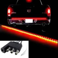Wholesale 10PCS quot Trunk Tailgate Red White LED Light Bar For Reverse Brake Turn Signal Tail DHL