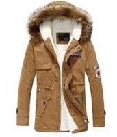 Wholesale Fall Mens Warm Fur Collar Hooded Parka Winter Men s Long Thicken Casual Warm Down Coat Jacket Overcoat Outwear for men
