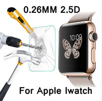 Wholesale Premium mm H Tempered Glass Screen Protector for Apple Watch Explosion Proof Clear Toughened Protective Film OPP Package