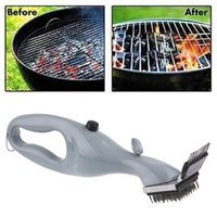 Wholesale Barbecue BBQ Stainless Steel Picnic Brushing Cleaner Stainless Steel Brush Handheld Grill Clean Brush Cleaning Tool