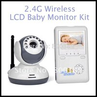 Wholesale Digital GHz Digital Wireless LCD Baby Monitor Kit Night Vision Camera Way Talk Voice operated Transmission