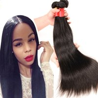 virgin brazilian hair clip in - Indian Peruvian Malaysian Cambodian Virgin Hair straight Bundles Dyeable A Best Quality Brazilian Virgin Human straight Hair Extensions
