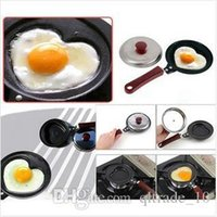 Wholesale 200pcs CCA2701 Creative Frying Eggs Pans Eco Friendly Heart Kitchen Breakfast Non Stick Omelette With Handle Bear Creative Pancake Pot