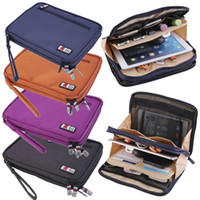 Wholesale Double Layer Zipper Hand Bag Carrying Case Sleeve Pouch for iPad Tablets tinyaa