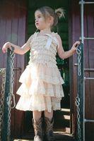 Wholesale For Y Retail Vintage Summer girl cream chiffon Dress Toddler girl aqua petti lace dress chic flower girl dress baby Birthday dress