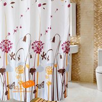bathroom design installation - New Arrival CM Polyester Flower Design Bathroom Shower Curtains With Rings Bedroom Curtains