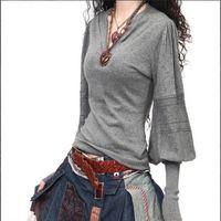 100 cashmere sweater - Latest Winter V Neck Lantern Sleeve Sweater Cashmere Sweater Women s Long Sleeve Warm Pullovers HO851993