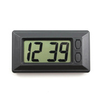 Wholesale Ultrathin Auto Electronic LCD Digital Clock Calendar Display For Car Dashboard