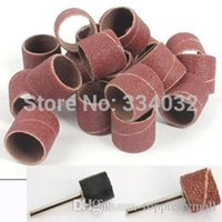 anvil wholesale - 100pcs dremel sanding sleeves sanding paper grinding wheel abrasive accessories woodcarving buffing polishing woodworking A3