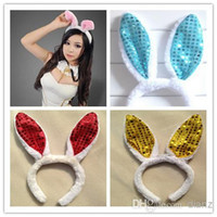 bunny jewelry - KAWAII women girl Bunny Rabbit Fluffy sexy Ear Headbands Plush Head Band Costume Festive Party Decorative Performing props hair jewelry