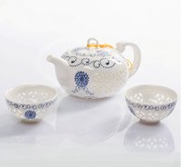 Wholesale Home decor hobby giftsCeramic Tea Sets Handpainted Kitchen Dining Bar TeaCup ChineseTravel CoffeeTea Set gifts TeaPot