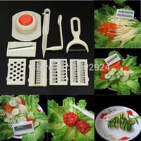Wholesale High Quality Multifunctional Household Fruit Vegetable Spiral Slicer Knife Potato Cutter Peelers Kitchen Cooking Tool Set
