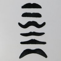 Wholesale 6 Fake Moustache Self Adhesive Mustache Fancy Dress Party Fun Rogue Boy Best Price and High Quality
