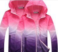 Wholesale Fall Large size thin outdoor UV couples dress size long sleeved coat