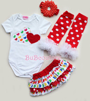 baby ruffle bloomers pattern free - valentine s rompers with matched ruffle bloomers baby valentine s clothing set heart pattern rompers set free