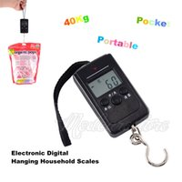 Wholesale New Kg Black Pocket Portable Electronic Digital Hanging Household Scales Fishing Hook Scale Kg Lb oz easy to carry