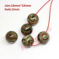 Wholesale Hot Dia mm Green Prayer Mala Tibetan Mystical Agate Dzi Eyes Beads DIY necklace Gift w03466